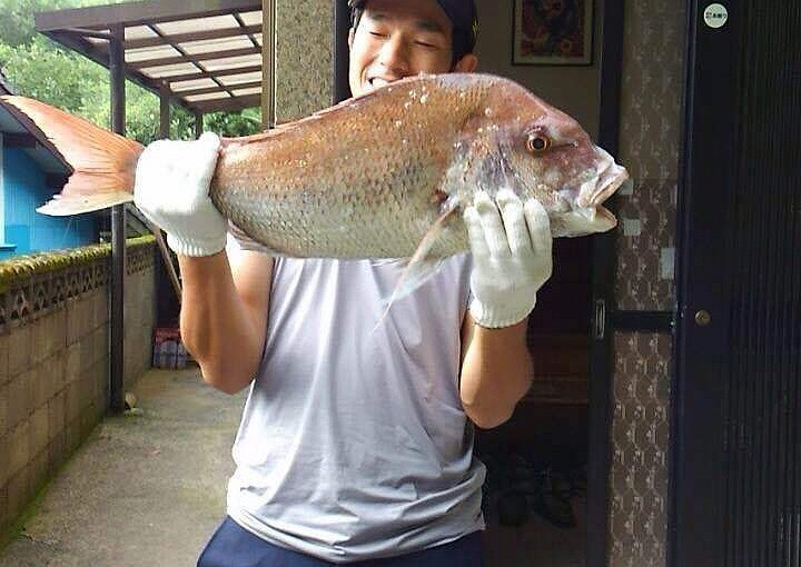 真鯛75センチ、5kg!