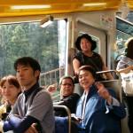 滝本駅を出発。楽しいですね。